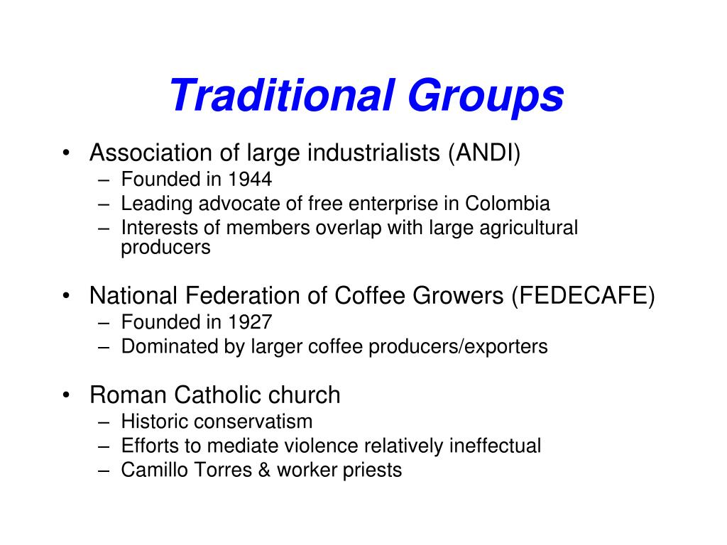 Traditional Groups