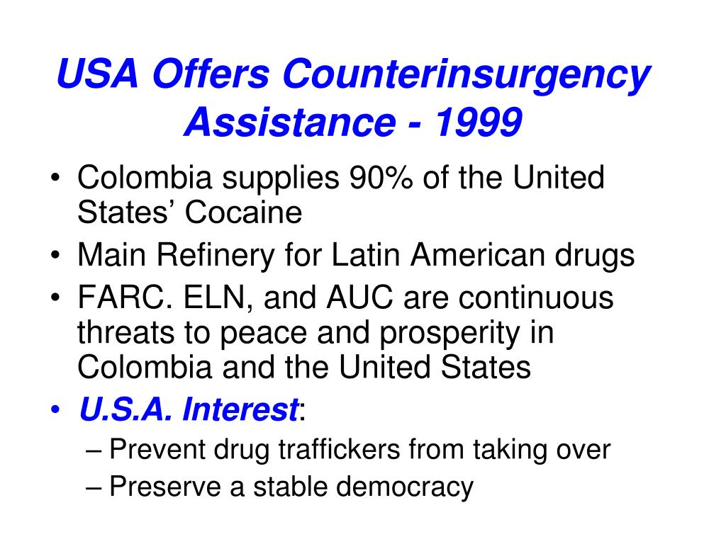 USA Offers Counterinsurgency Assistance - 1999
