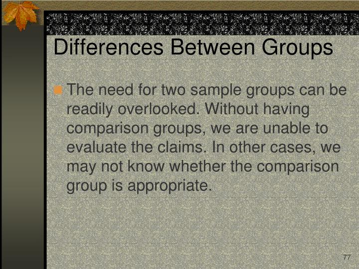 Differences Between Groups
