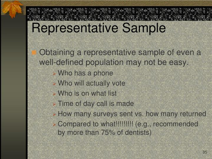 Representative Sample