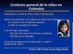 contexto general de la ni ez en colombia