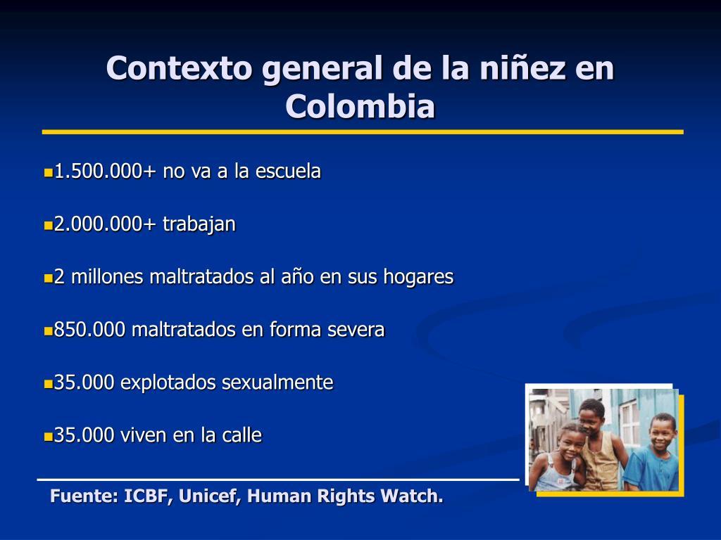 Contexto general de la niñez en Colombia