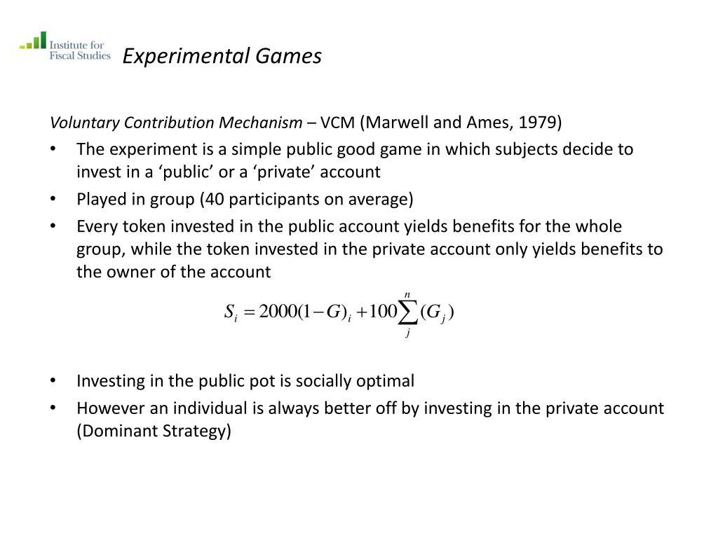 Experimental Games
