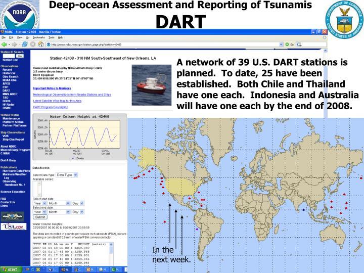 Deep-ocean Assessment and Reporting of Tsunamis