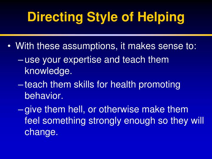 Directing Style of Helping