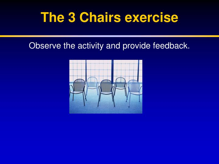 The 3 Chairs exercise