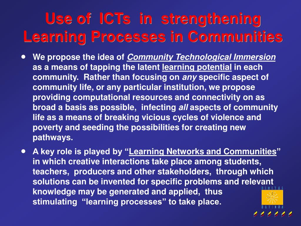 Use of  ICTs  in  strengthening