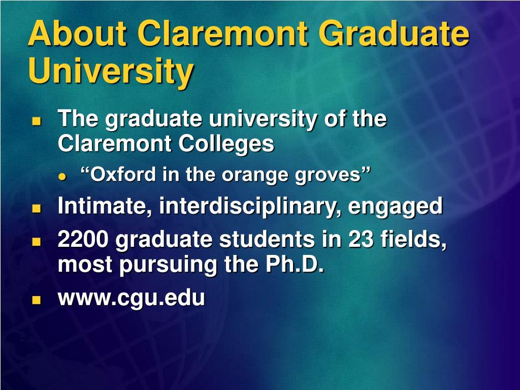 About Claremont Graduate University