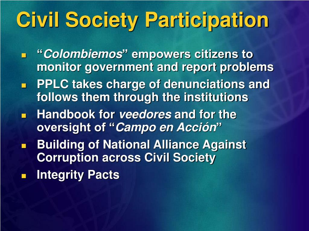 Civil Society Participation