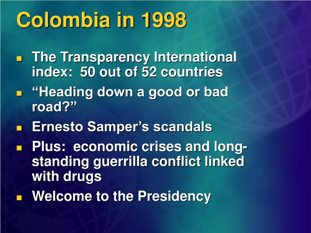 Colombia in 1998