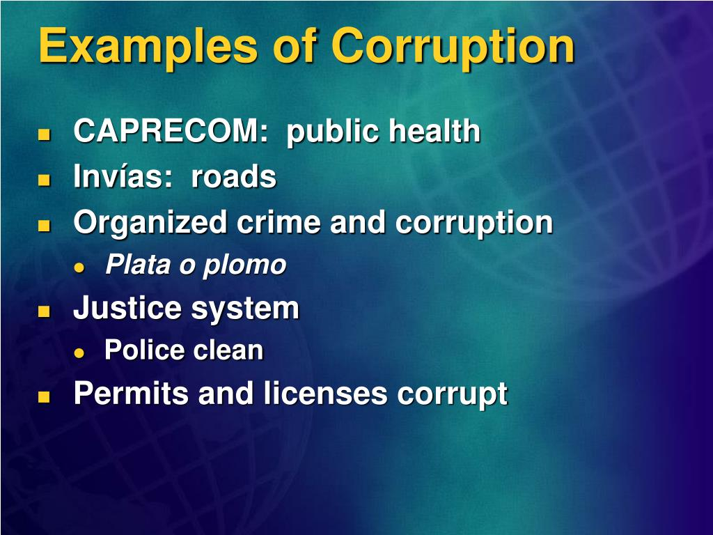 Examples of Corruption