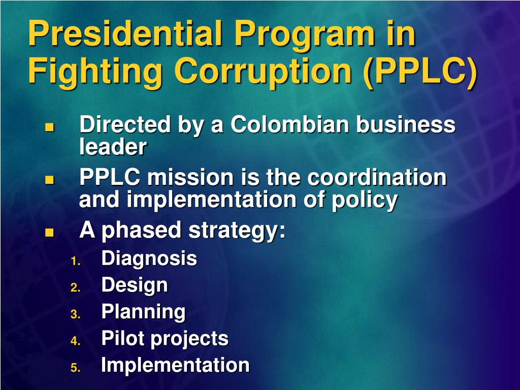 Presidential Program in Fighting Corruption (PPLC)