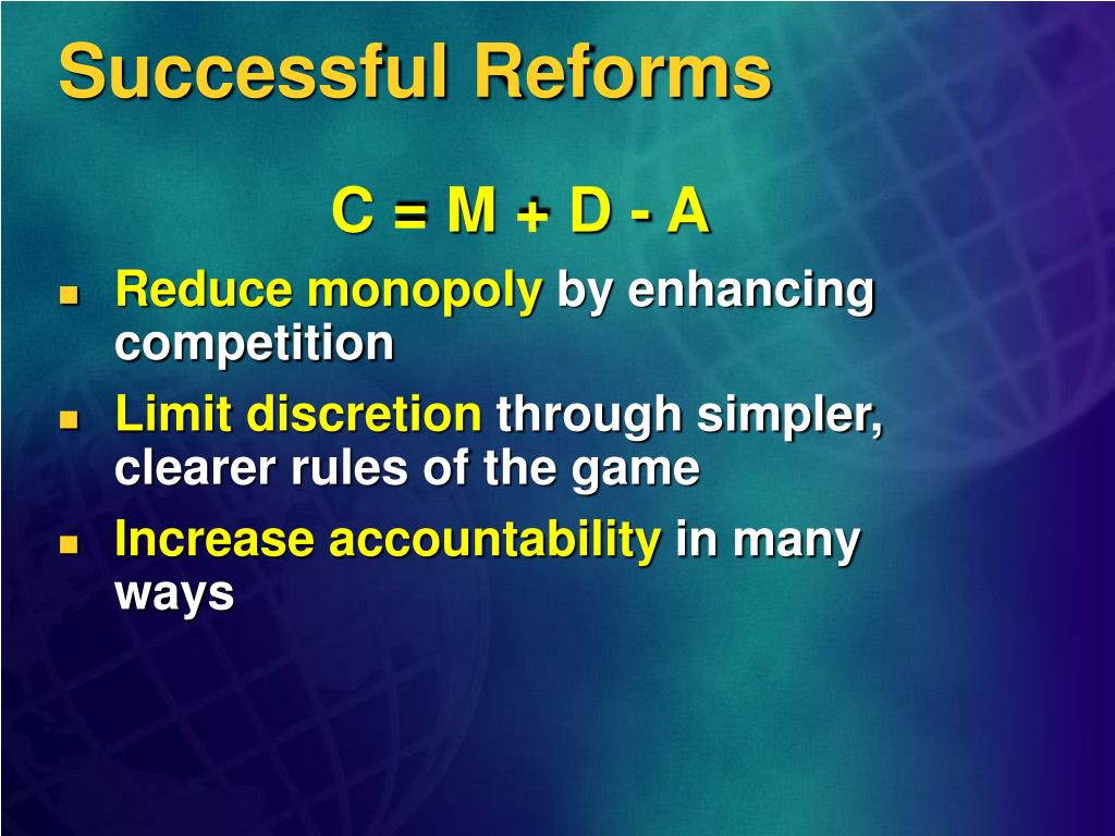Successful Reforms