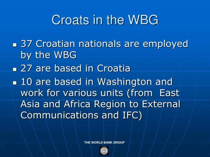 Croats in the WBG