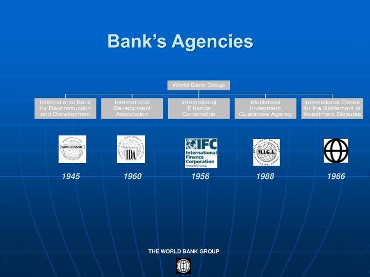 Bank's Agencies