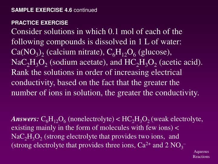 SAMPLE EXERCISE 4.6