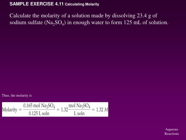 SAMPLE EXERCISE 4.11