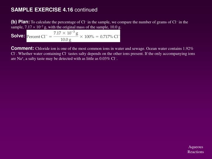 SAMPLE EXERCISE 4.16