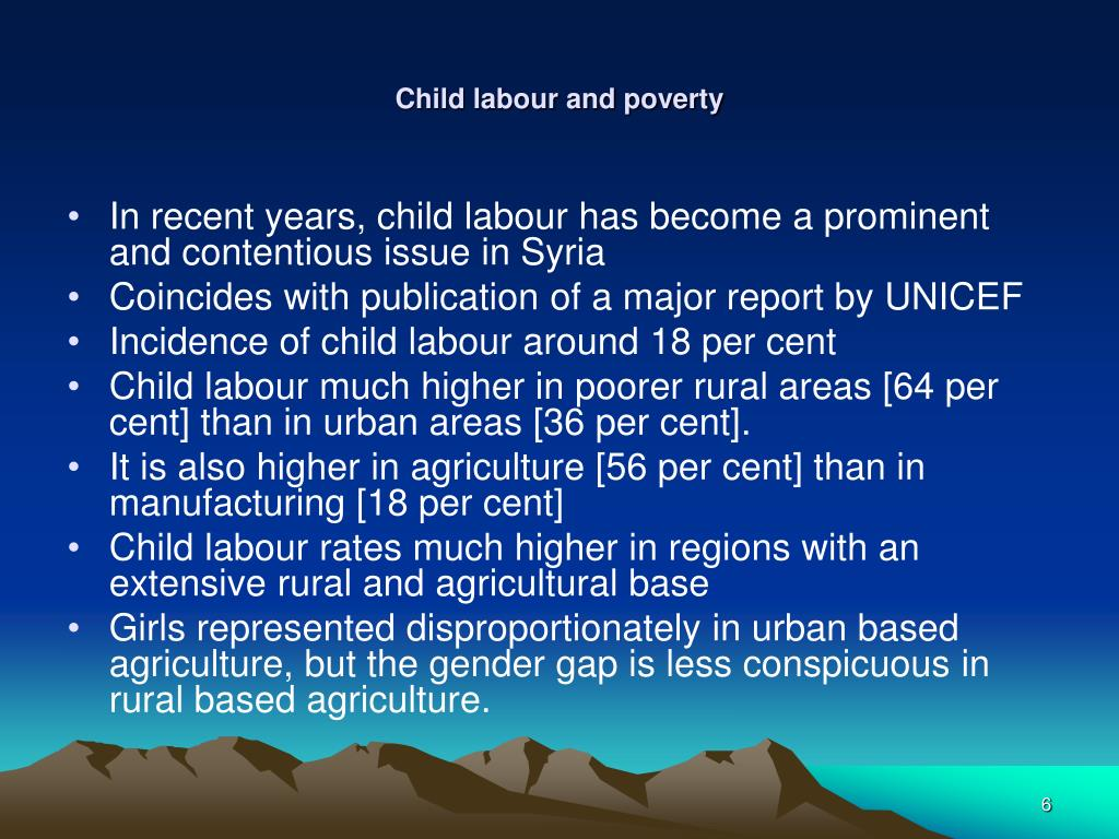 Child labour and poverty
