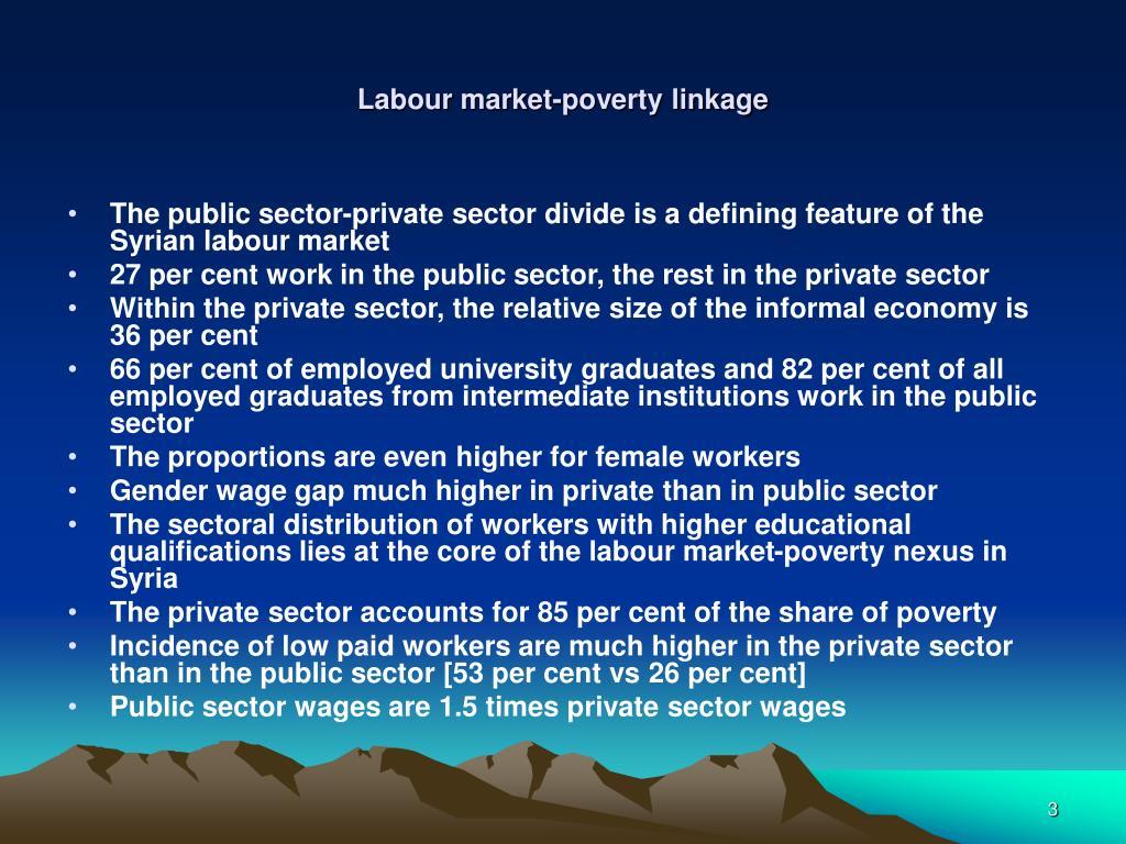 Labour market-poverty linkage