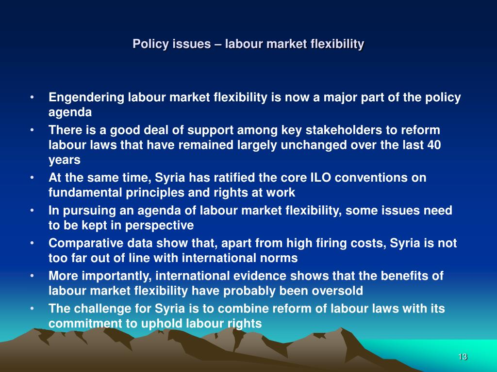 Policy issues – labour market flexibility