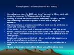 unemployment underemployment and poverty