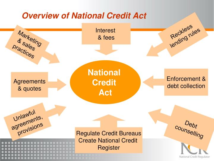 Overview of National Credit Act