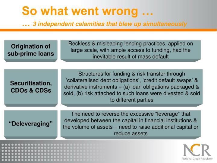 Origination of sub-prime loans