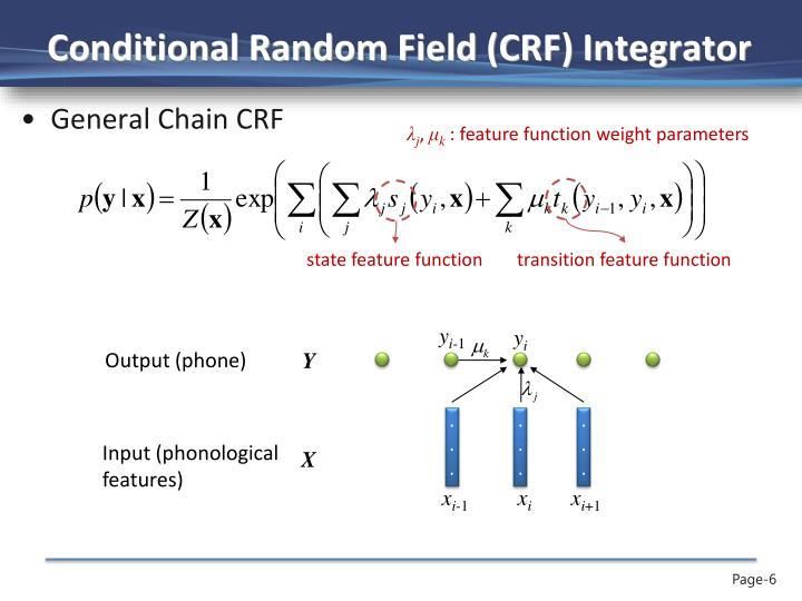 Conditional Random Field (CRF) Integrator