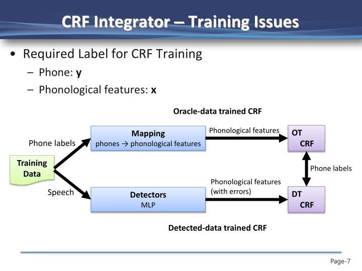 CRF Integrator