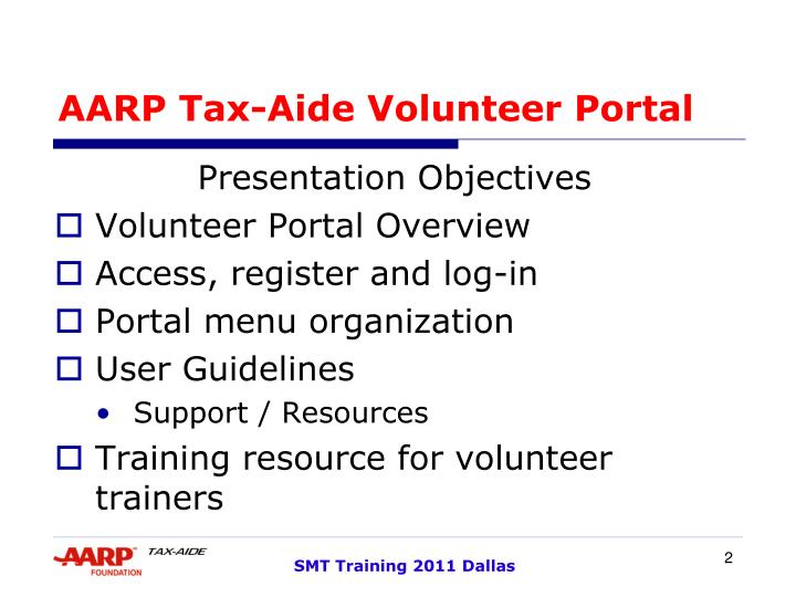 AARP Tax-Aide Volunteer Portal