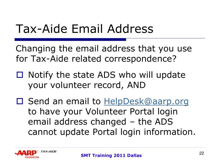 Tax-Aide Email Address