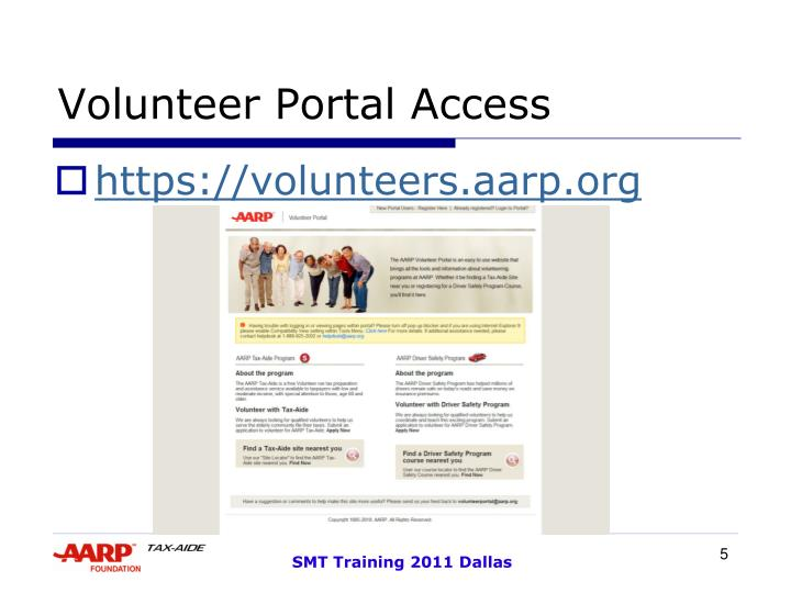 Volunteer Portal Access