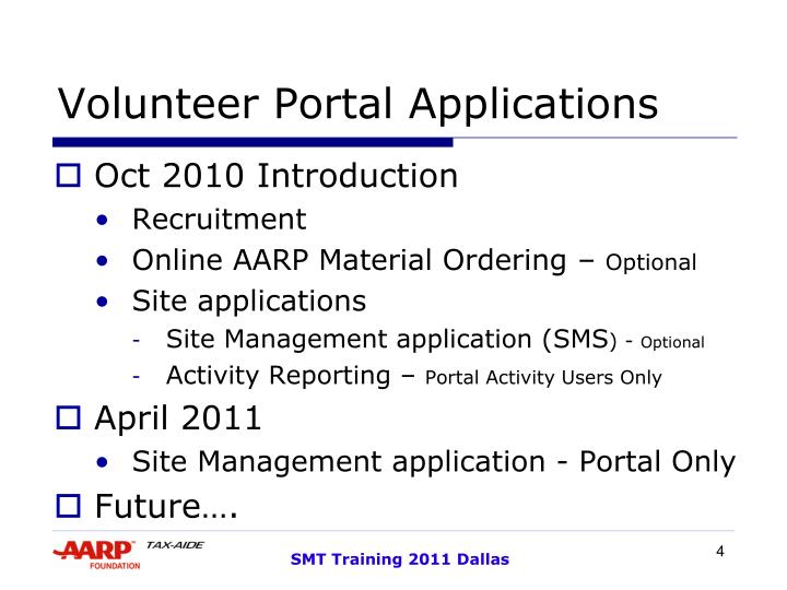 Volunteer Portal Applications
