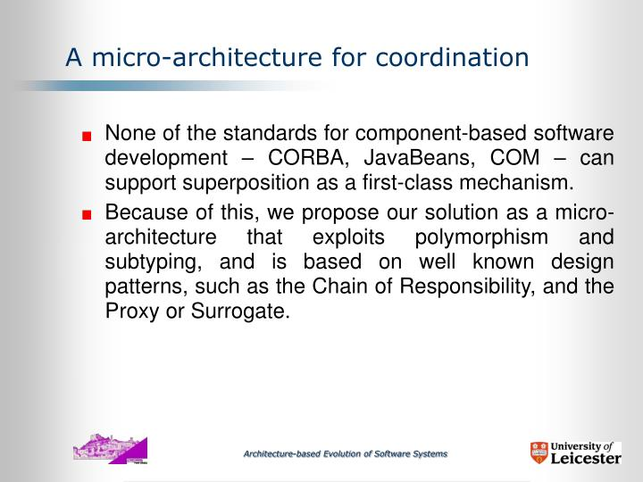 A micro-architecture for coordination