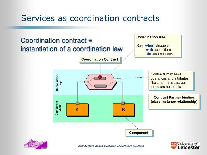 Coordination rule