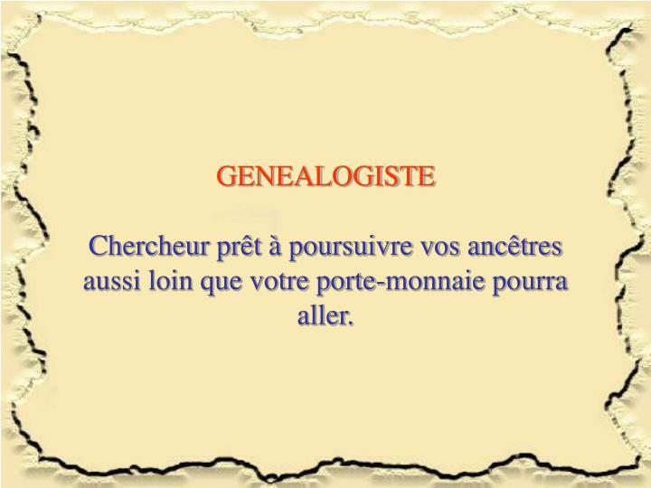 GENEALOGISTE