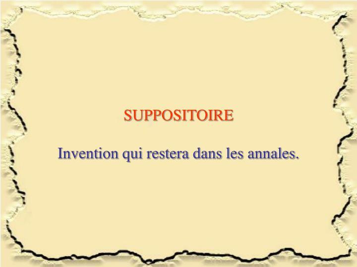SUPPOSITOIRE