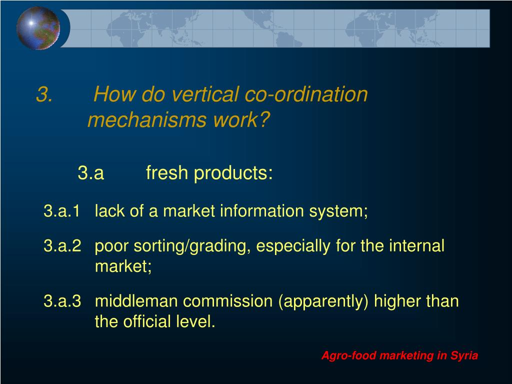 3.	 How do vertical co-ordination 	mechanisms work?