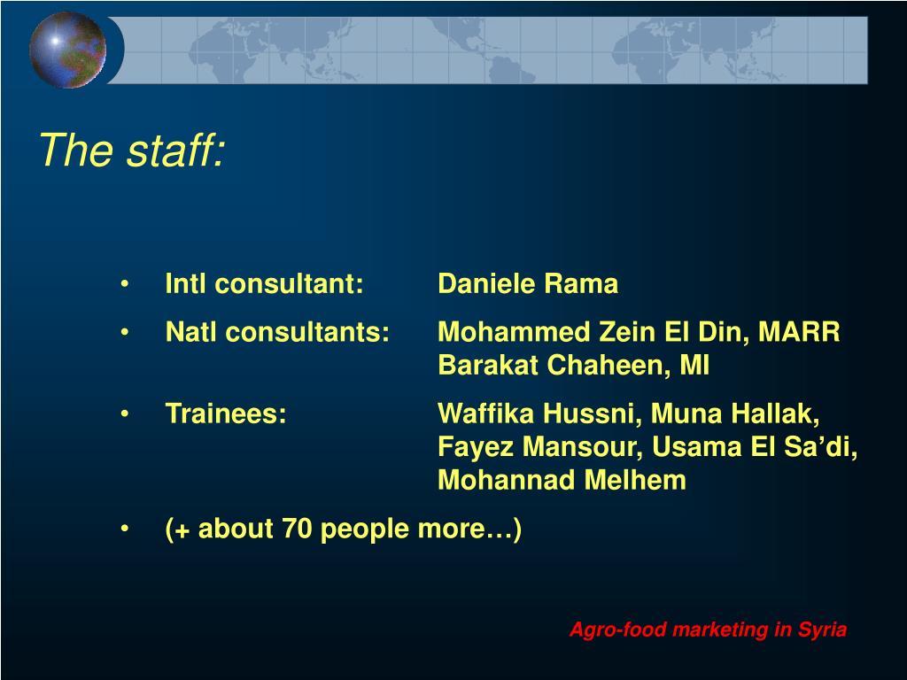 The staff: