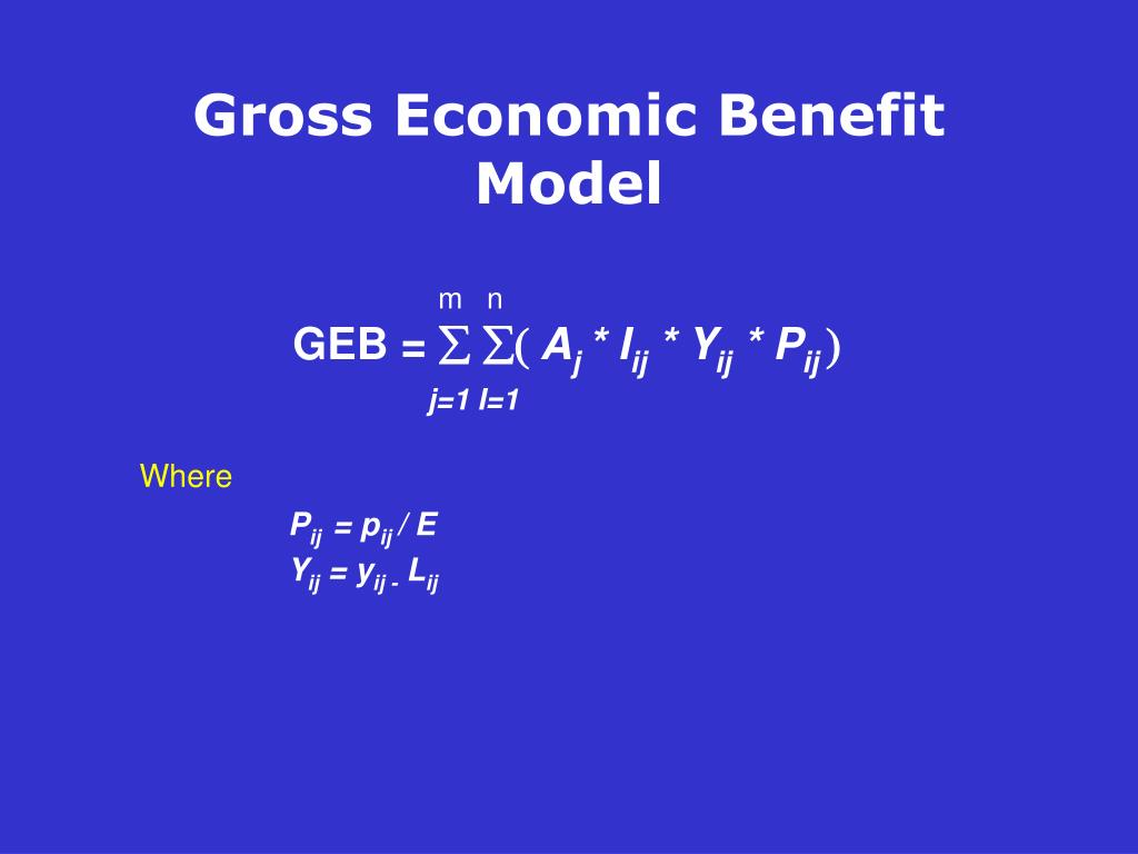 Gross Economic Benefit Model