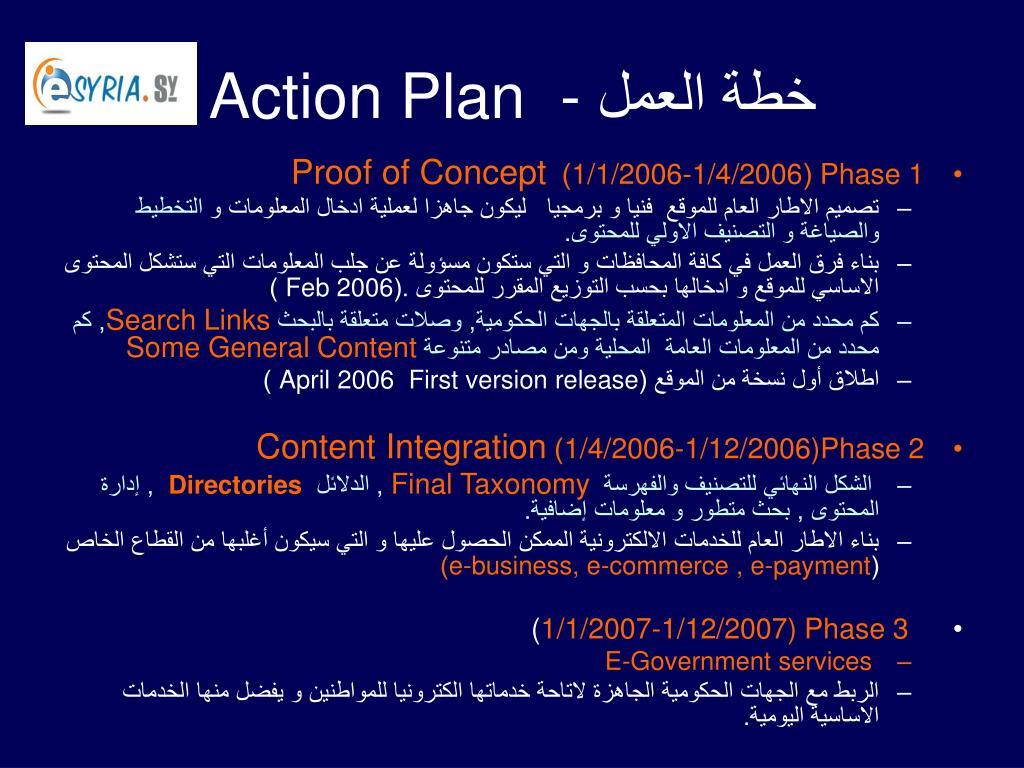 خطة العمل