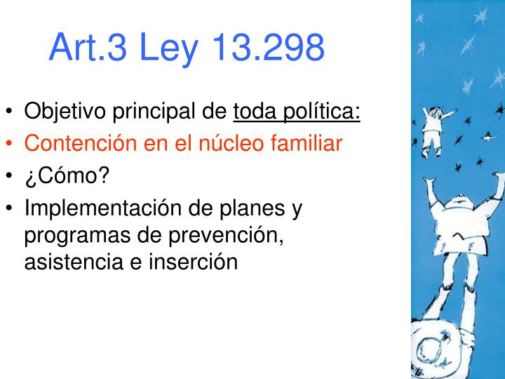 Art.3 Ley 13.298
