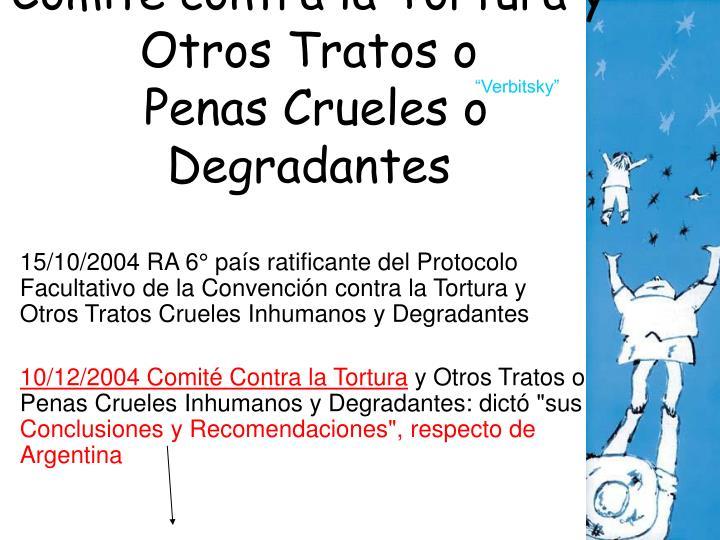 Comité contra la Tortura y Otros Tratos o