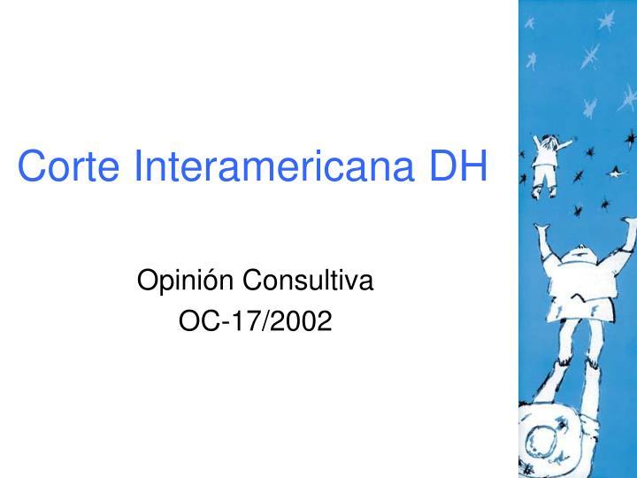 Corte Interamericana DH