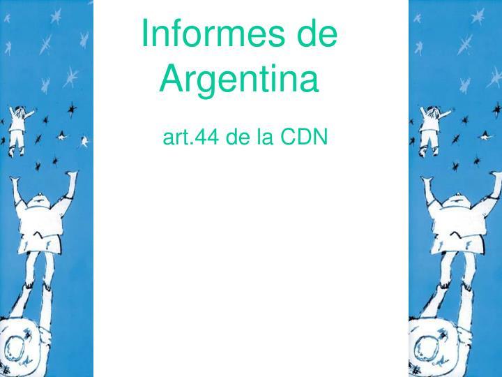 Informes de Argentina