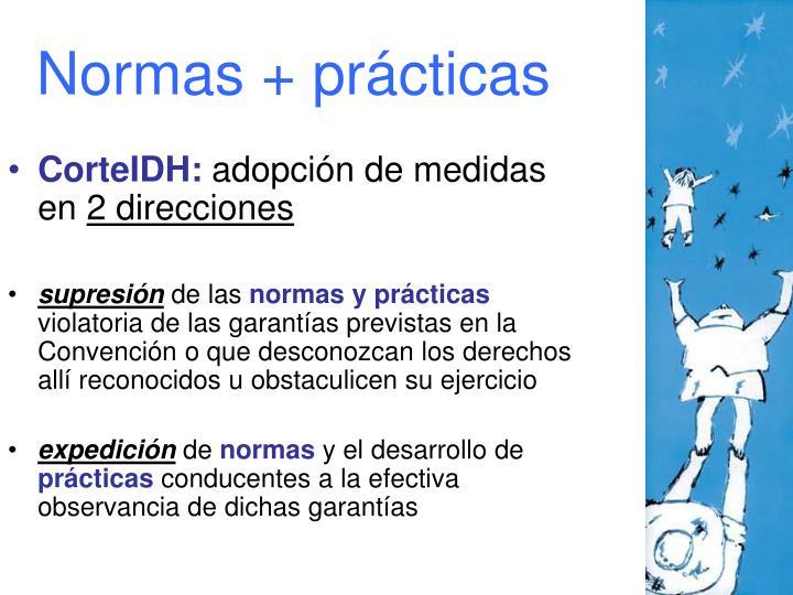 Normas + prácticas