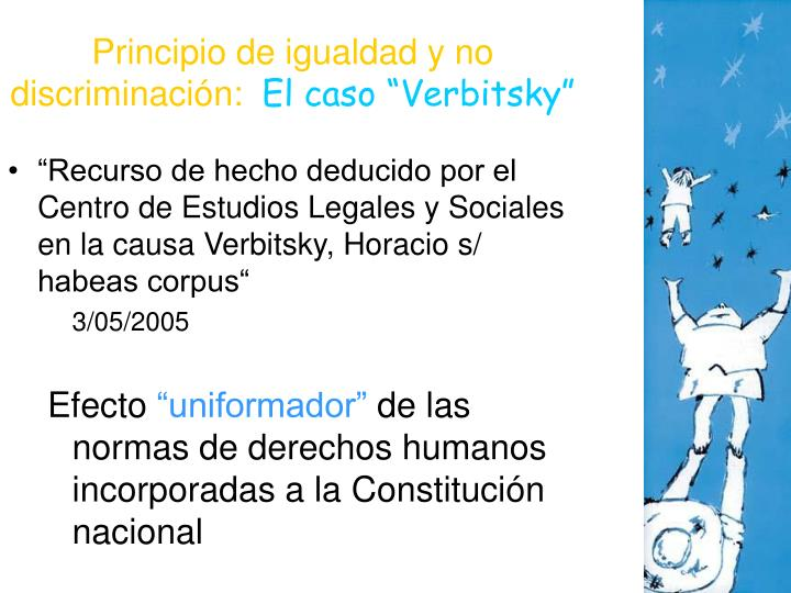 Principio de igualdad y no discriminación: