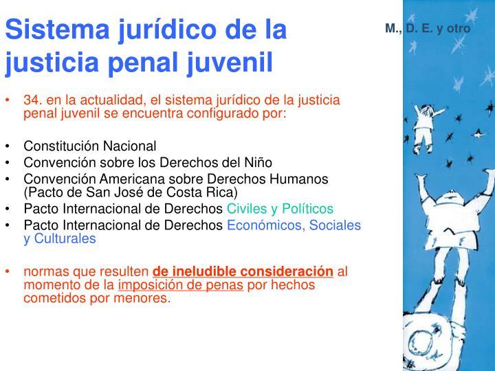Sistema jurídico de la justicia penal juvenil