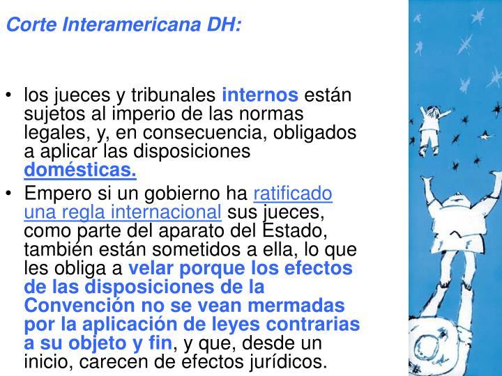 Corte Interamericana DH: